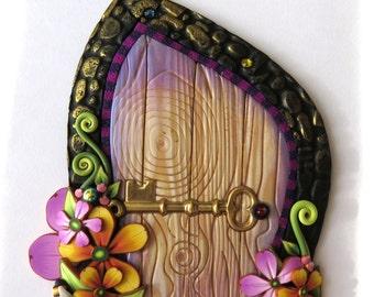 Bumble Bee Fairy Door Pixie Portal Polymer Clay Miniature Door for Fairy Gardens and Home