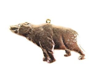 Rose Gold Plated California Bear Pendants (2x) (M575-D)