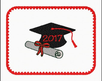 2017 Graduation Gift Card Holder Embroidery ITH design