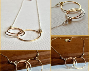 Mother's Day Necklace. New Mother Necklace. Eternity Mother's Necklace. Mixed Metal Infinity Necklace