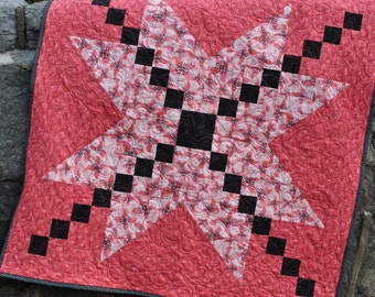 Baby Quilt Pattern.... Easy Beginner Quick ...Patchwork Quilt Pattern