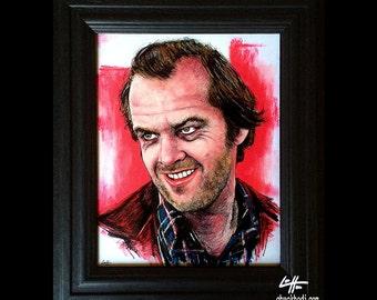 Jack Torrance - Original Drawing - The Shining Jack Nicholson Redrum Murder Horror Dark Art Halloween Stanley Kubrick Serial Killer Pop Art