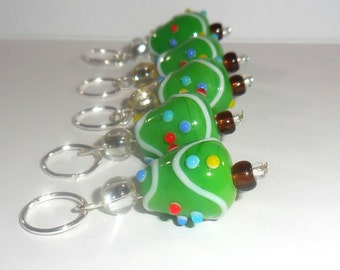 Tree Trimming stitch markers by AnniePurl
