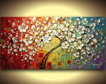 love tree wedding gift fine art painting gift for wedding unique wedding gift for couple engagement gift anniversary gift for women for men
