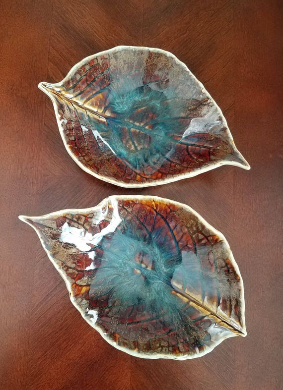 Ceramic Dishes - Stoneware Dishes - Handmade Pottery - Ceramic Leaf Dish - Soap Dish - Ring Dish - Catch All Dish - Leaf Dish - Jewelry Dish