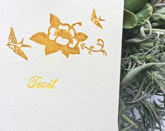 Twit Funny Cards Humorous Card Funny Greeting Card  Funny Stationery Set Letterpress Card  Letterpress Stationery Card Cards Stationery