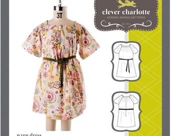 Clever Charlotte PATTERN - Wren Dress - Sizes 2T-8