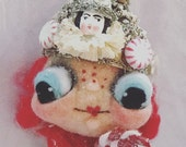 Peppermint Princess Ooak  art doll