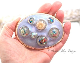 Kaleidoscope Belt Buckle Resin Domes One-of-a-Kind Buckle Lorelie Kay Original