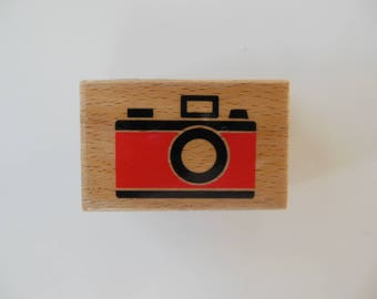 Camera Rubber Stamp - Wood Mounted Rubber Stamp
