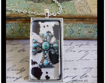 Cowgirl Cross pendant...Ready To Ship with gift box...cross pendants, religious jewelry, cowgirl jewelry,cowgirl pendants, crosses