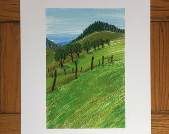 West Virginia Landscape, 13x19 and 8.5x11, Art Print