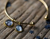 3 Custom Birth Moon Charm Bracelets - 2 All Gold, 1 All Silver