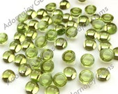 Gemstone Cabochon Peridot 4mm Round FOR TWO