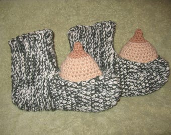 Boobie, Penis or Vagina Slippers - MATURE - Made to Order