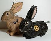 RESERVED for Sara - Custom 4 Inch Rabbit Ornaments