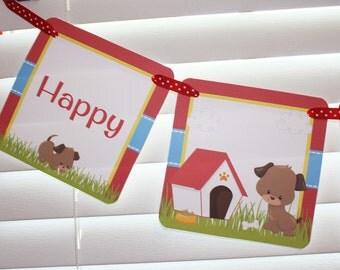 Puppy Birthday Banner / Dog Birthday Banner / Puppy Banner / Dog Banner / Puppy Birthday Party Banner / Puppy Birthday / Doggie Birthday
