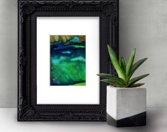"""Abstract painting, Original Abstract  Painting in mat """"Mystic Travels"""" by Kathy Morton Stanion EBSQ"""