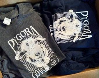 Pygora Goat screen printed t-shirts