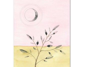 Desert Pink Moon // archival print
