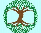 8 inch Celtic Tree of Life Machine Embroidery Design File