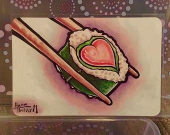 "Sushi Love - 6x4"" Matte Art Print"