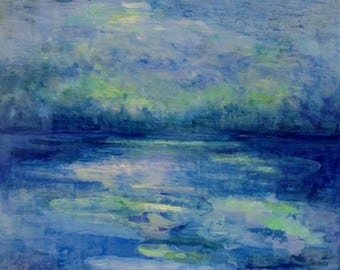 Original Impressionist Landscape Painting- Canvas Wall Art- Modern Impressionism Abstract- Drawn to the Light