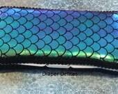 Mermaid Boutique Travel Wipe Case Baby Shower Gift Green Purple