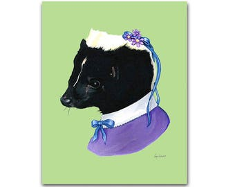 Lady Skunk art print 5x7