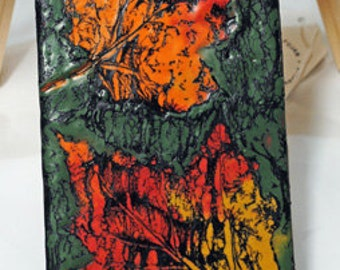 Fall treasures - encaustic wax painting