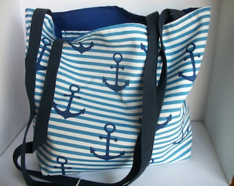 Anchor Tote Reversible outdoor fabric