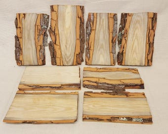 Wood Planks With Natural Edge