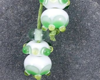 Clouds lampwork earring set perfect for making earrings