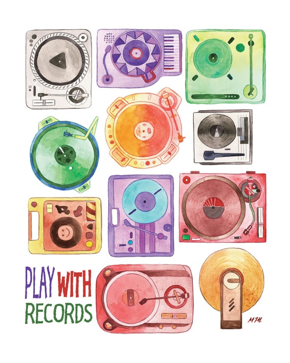 Play with Records Poster