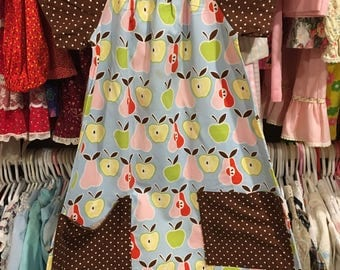 Handmade Apple Dress Girls 6/7