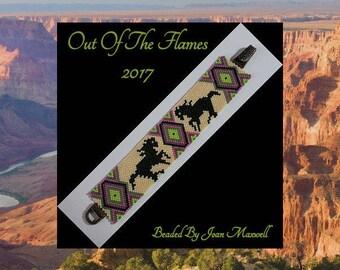 Bead PATTERN Wild Horses Bracelet Peyote