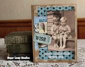 Wishing Someone Sweet Birthday card,handmade card,collage card,