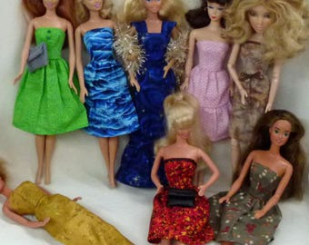 "SUPER SALE 9 Handmade 11.5"" Doll Dresses and accessories"