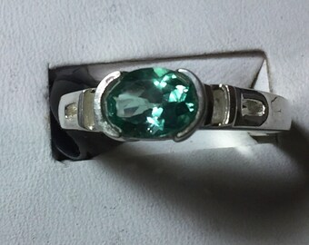 Silver apatite ring
