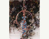 MOTHERS DAY SALE Wind Chimes - Copper & Glass - Dragonfly Butterfly Fairy - Garden Sculpture / Whirlwind Window Art Suncatcher Lawn Pond Out
