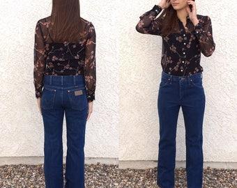 Vintage 80's Wrangler boot cut jeans 29 x 30