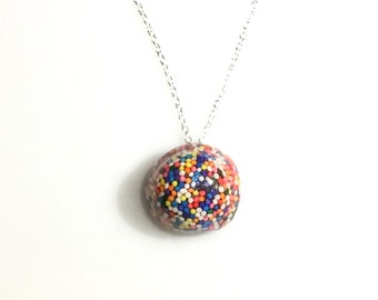 Sprinkle Licorice Necklace, candy jewelry