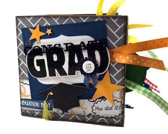 Graduation Scrapbook - Congrats Grad Paper Bag Scrapbook - Photo Album