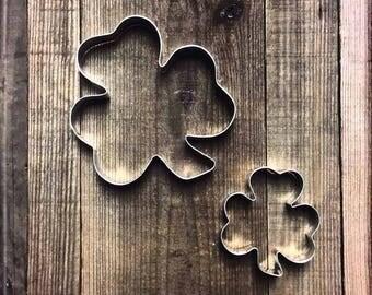 Set of 2 Shamrock Metal Cookie Cutters #NAWK60