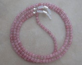 rose quartz eyeglass chain holder silver ends