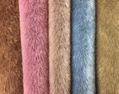 NEW! - Sassy Long Pile - Premium Fabric for making Mini Teddy Bears - by Emily Farmer - Hand Dyed - Matching Ultrasuede - LOT B