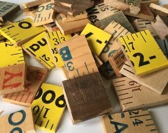 Vintage Yard Stick Pieces for Charms & Pendants