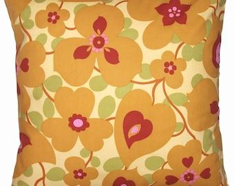 Throw Pillow Cover, Amy Butler Morning Glory Fabric, Modern Home Decor, Cushion 16x16 - READY TO SHIP