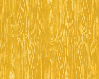 YARD - Joel Dewberry Fabric, True Colors Collection, Woodgrain in Straw Yellow, cotton quilting fabric -  SALE