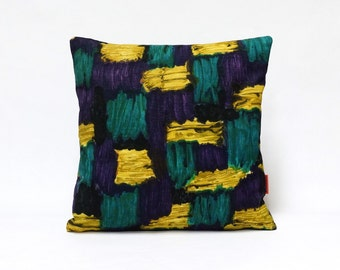 Mid Century Modern Decorative Pillow Cover | Vintage Fabric Cushion Cover | Velvet throw pillow Handmade by EllaOsix